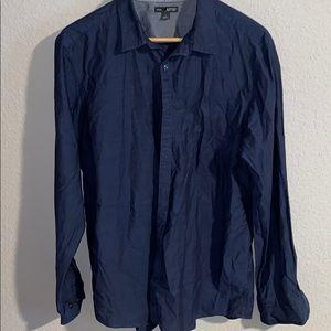 APT 9 casual button shirt long sleeves BLUE